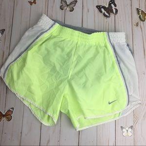 Nike XS Dri-fit Lime Green Running Shorts